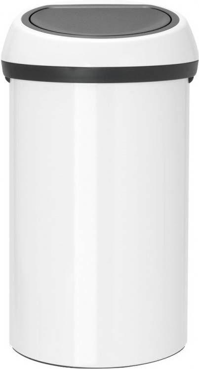 Duo Afvalbak 40 Liter Brabantia.Brabantia Touch Bin Afvalemmer 60 Liter White