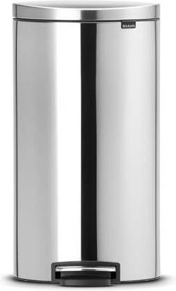 Brabantia Prullenbak 30 Liter.Brabantia Flatback Prullenbak 30 L Matt Steel Fingerprint Proof