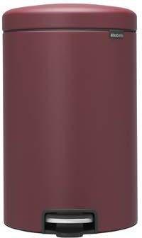 Brabantia 20 Liter Pedaalemmer.New Icon Pedaalemmer 20 Liter Mineral Windsor Red Rood