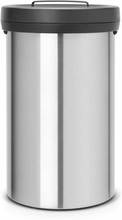 Brabantia Prullenbak 60 Liter.Brabantia Touch Bin Prullenbak 60 L Matt Steel Fingerprint Proof