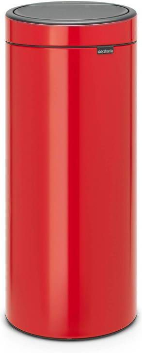 Brabantia Touch Bin Afvalverzamelaar 30 Liter.Brabantia Touch Bin Afvalverzamelaar 30 Liter Brilliant Steel