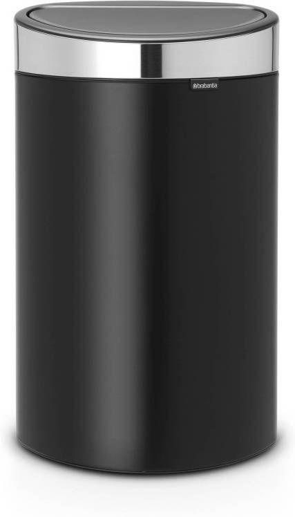 Brabantia Prullenbak 40 Liter.Brabantia Touch Bin Prullenbak Fpp 40 L Matt Black